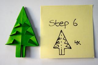 Tự làm cây thông noel bằng giấy trang trí 6